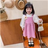 女中童  秋冬款加绒套装 适合3-7岁儿童JM607