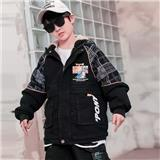 男大童  秋冬款牛仔派克服 适合8-13岁儿童 SQ35
