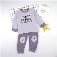 小童  三只小猴无缝圆领内衣套装 适合1-5岁儿童 LM38020