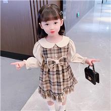女中童  秋冬款加绒连衣裙 适合3-7岁儿童 JM602