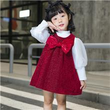 女中童  秋冬款加绒两件套装 适合3-7岁儿童 JM605