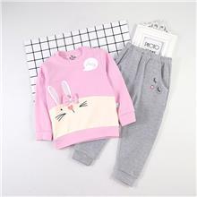 小童  拼接迷你兔圆领内衣套装 适合1-5岁儿童LM38070
